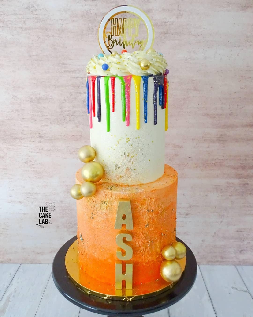 Colourful Drip Cake