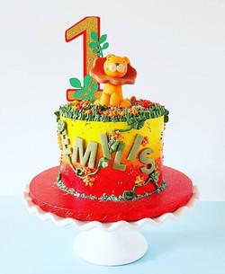 Jungle Themed Mini Cake