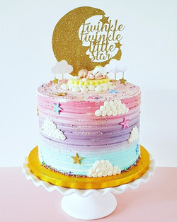 Ombre Twinkle Star Cake