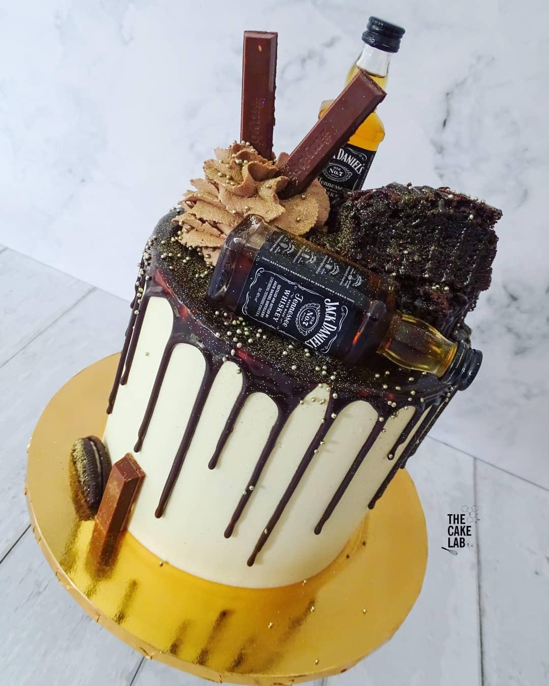 Jack Daniels Brownie Cake