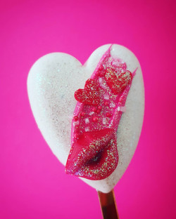 Love Heart Cakesicle