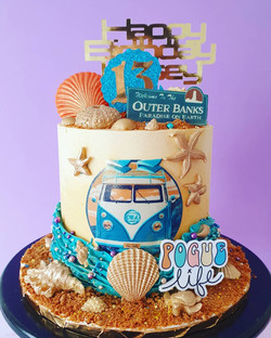 Outer Banks themed cake
