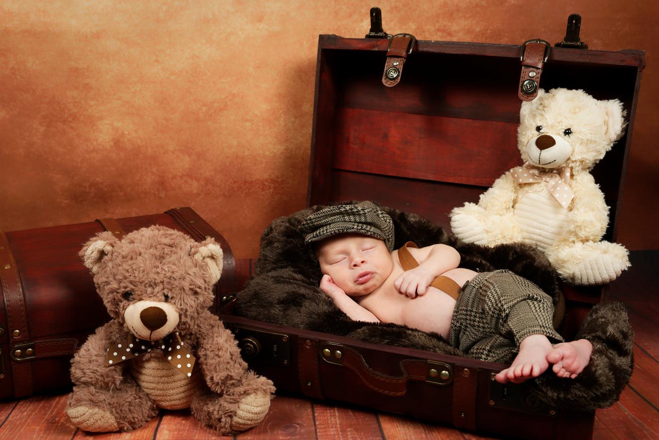 photo bebe valise ourson shade