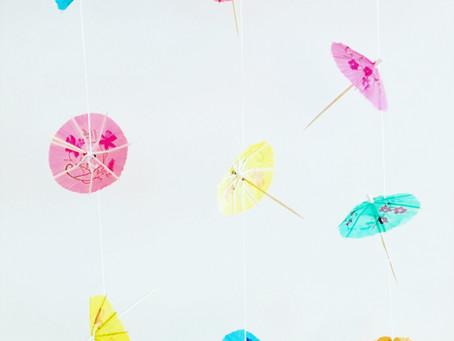 DIY tip: een slinger van parapluutjes voor op je kinderfeestje!