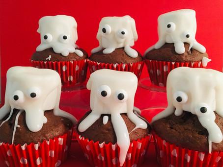 Griezelige monster traktatie: spook cupcakes