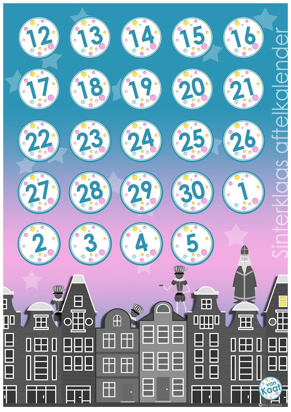 aftelkalender pakjesavondspel sinterklaas
