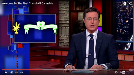 Stephen Colbert Shows CS Stanley Artwork - Indianapolis - First Church Of Cannabis