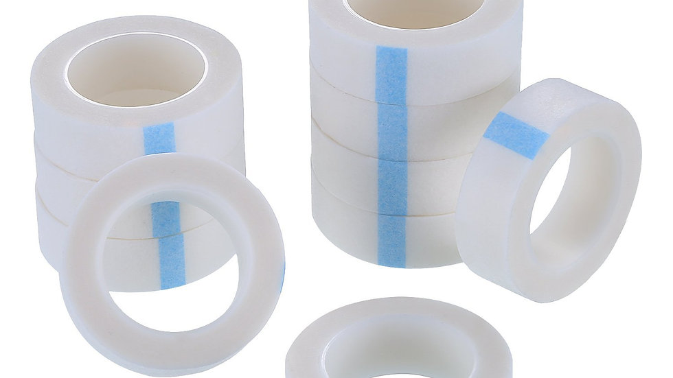 10 Rolls White Eyelash Tapes Fabric Eyelash Tapes for Eyelash Extension