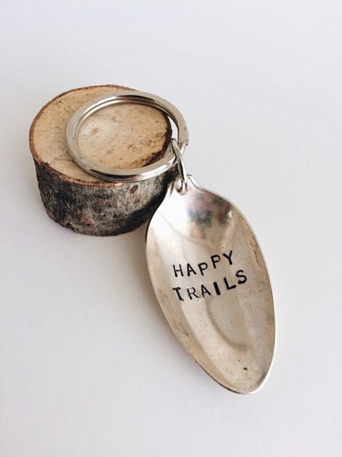 """Happy Trails"" Vintage Spoon Key Chain"