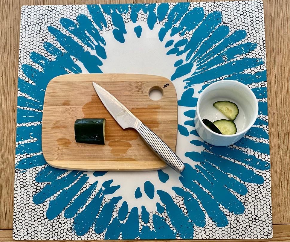 Montessori, practical life, montessori activity, cucumber cutting, food preparation, montessori activity