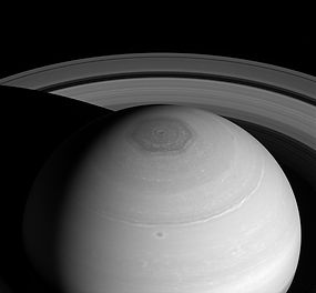 Saturn-NorthPolarHexagon vortex and ring