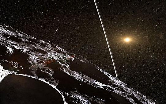 Chariklo artist impression by NASA Scien