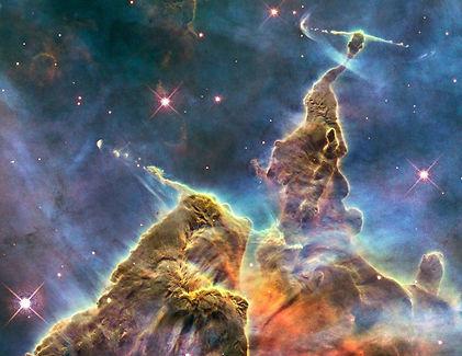 Carina nebula mystic mountain by NASA an