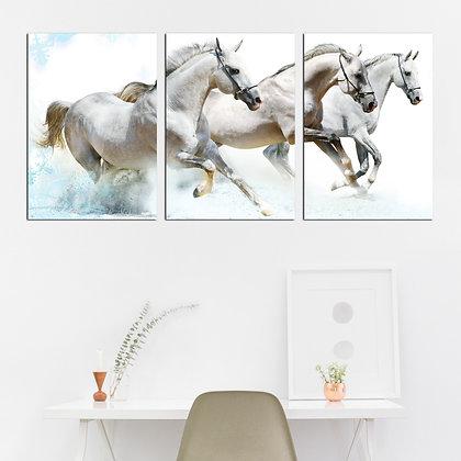 Kit - Cavalos Brancos Correndo
