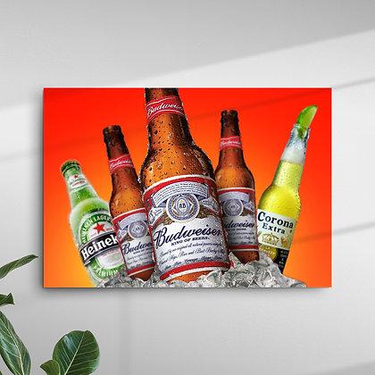Cerveja: Budweiser, Heineken e Corona