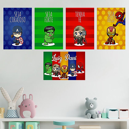 Kit - Infantil Os Vingadores