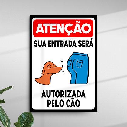 Atenção Sua Entrada será Autorizada pelo Cão