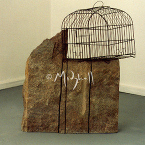 Granite And Crushed Bird Cage