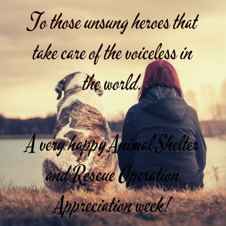 What is 'Animal Shelter and Rescue operations week' about?