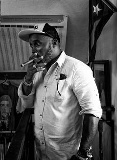 Cigar smoker in Havana, Cuba