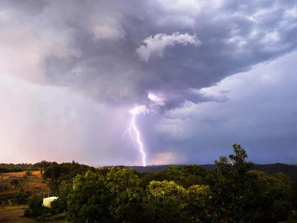 Lightning over the Hunter Valley