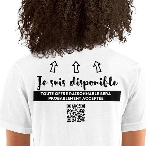 T-Shirt unisexe: Je suis disponible avec code QR