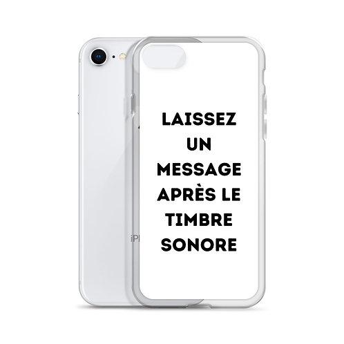iPhone Case: Laissez un message