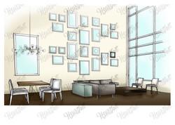 Dining_living room Sketch