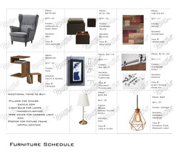 Furniture Schedule