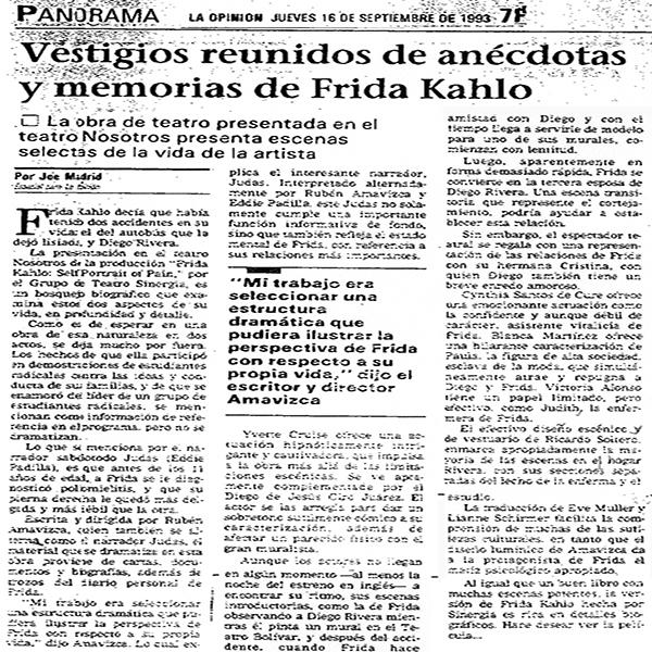 La Opinión Frida Kahlo