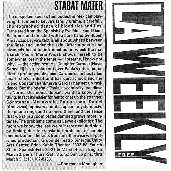 LA Weekly Stabat Mater