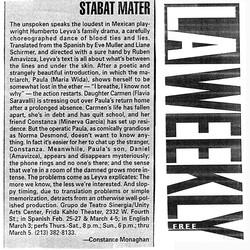 LA Weekly Stabat Mater