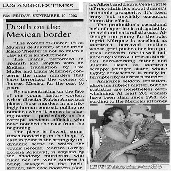 LA Times The Women of Juarez