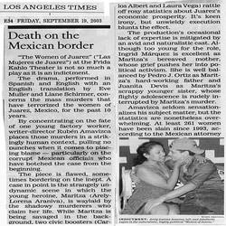 LA Times The Women of Juarez