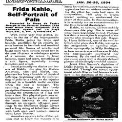 Drama Logue Frida Kahlo