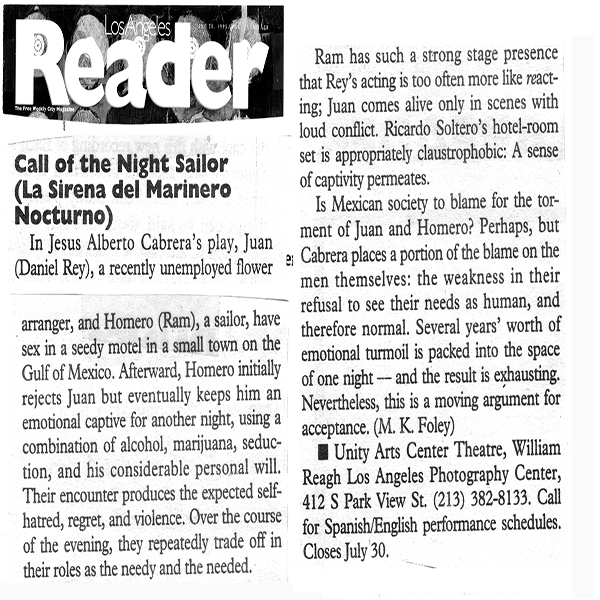 LA Reader  Call of the Night Sailor