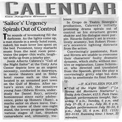 LA Times Call of the Night Sailor