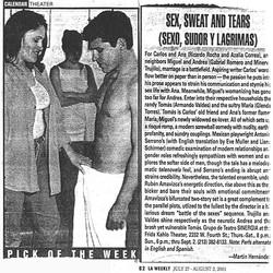 LA Weekly Sex, Sweat and Tears