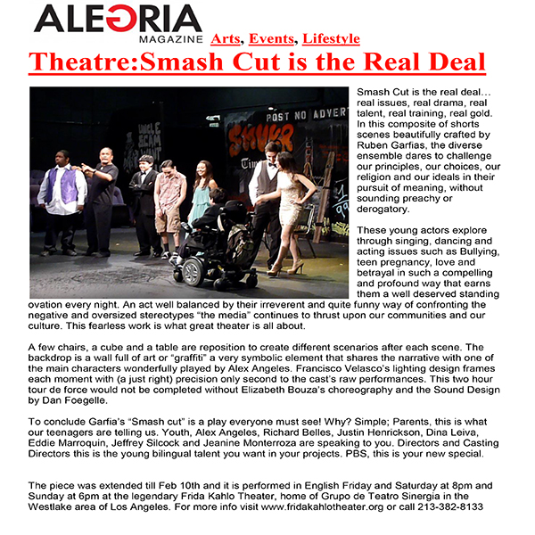 Alegria Magazine Smash Cut