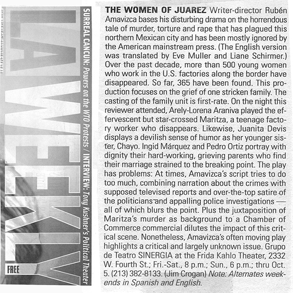 LA Weekly The Women of Juarez