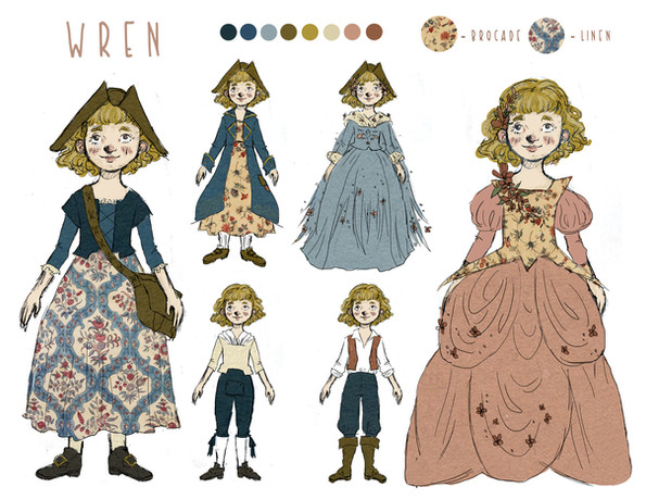 Character Design: The Twelve Dancing Princesses Adaption