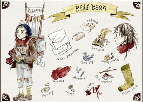 Character & Object Design: Bell Bean