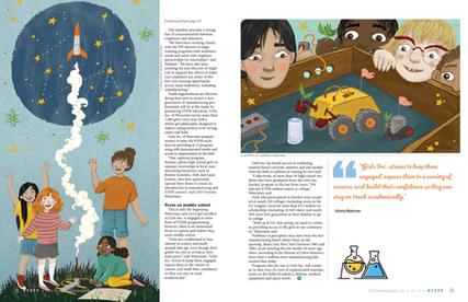 Illustration for Stuff Magazine #2 & 3
