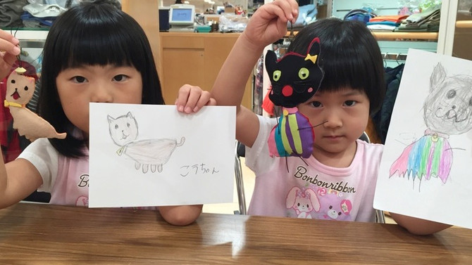 神戸大丸 8/20 「らくがきますこっと」ワークショップ開催レポート