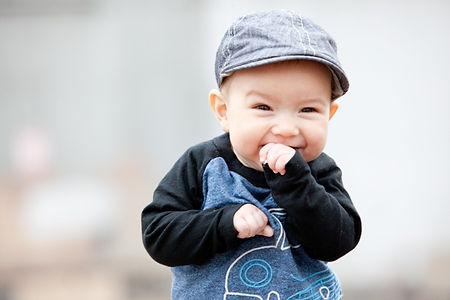 Cute baby boy in hat