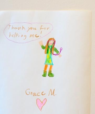 Picture pediatric patient drew for Dr. Roland
