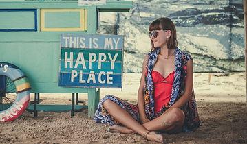Young stylish woman on the beach Pandawa