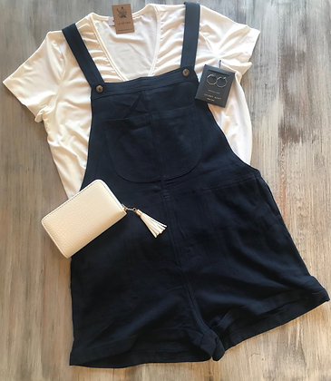 Overall Style Blue Romper