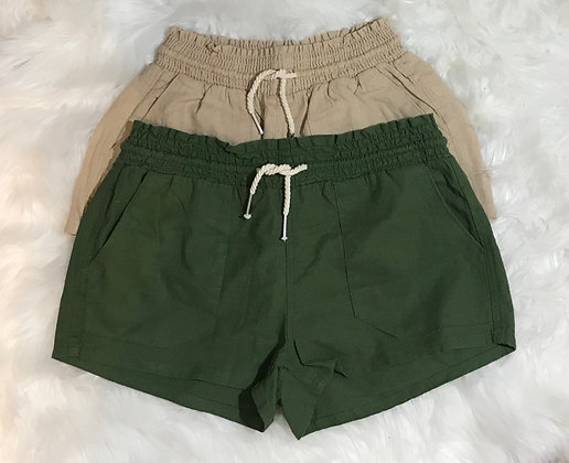 Linen Rope Draw String Shorts