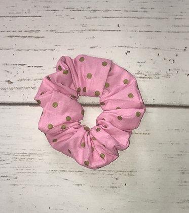 The Pink Polka Dot Scrunchie